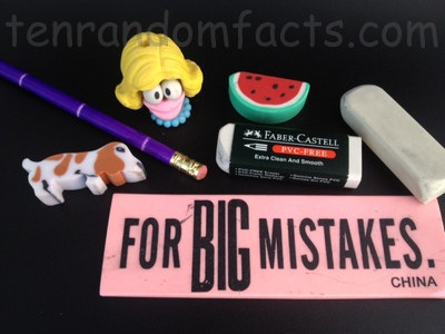 Eraser, rubber, Invention, Stationary, Ten Random Facts, Utensil, Collection, Assortment, Traditional, Shaped,
