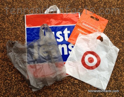 Plastic Shopping Bag, Grey, Grocery, Target, Just Jeans, Ten Random Facts, Trivia, Inventions, Handle, Assorted
