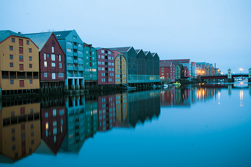 Bryggen, Trivia, Ten Random Facts, Place, Houses, Water, Reflective, Dark