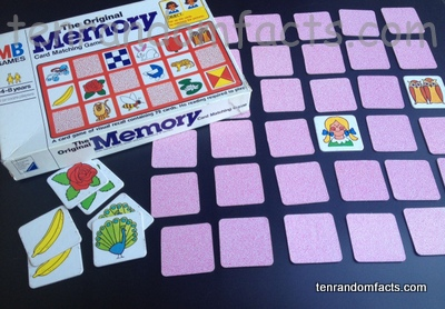 Concentration, Memory Match, Card Game, Original, Flipped, Set Up, Begin, Trivia, Ten Random Facts