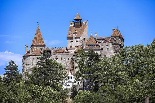Castle Bran, Green, Place, Transylvania, Dracula, Blue, Red, Orange, Romania