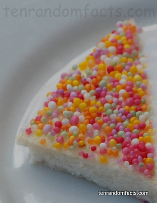 Fairy Bread, Trivia, Ten Random Facts, Sprinkles, Dessert.Party, Australia