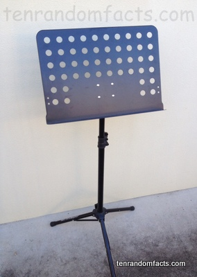 Music Stand, Invention, Black, Trivia, Ten Random Facts, Duty, Square, Chrome