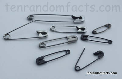 Safety Pin, Invention, Trivia, Ten Random Facts, Metal, Assortment, Invention