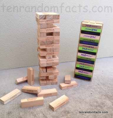 Jenga, Wooden, Plastic, Xtreme, Trivia, Ten Random Facts, Game, Invention, Progress, Tower
