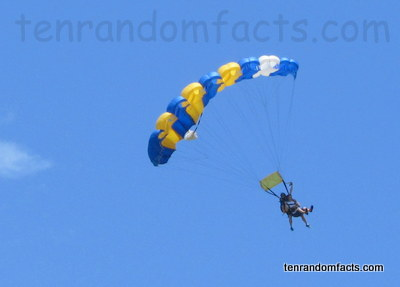 Ram-air Parachute, Trivia, Ten Random Facts, Flight, Gliding, Jump, Yellow, Blue, Rectangular, Sport, Invention