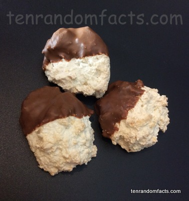 Macaroon, Trivia, Ten Random Facts, Food, Culinary, Confectionery, Coconut, Chocolate Dipped