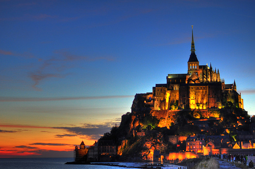 Mont Saint-Michel, Trivia, Ten Random Facts, Monastery, France, Island, Castle, Sunset, Tide