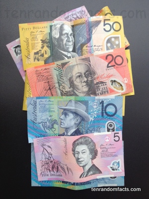 Polymer Banknotes, Money, Australian, Assortment, Plastic, Real, Collection, Types