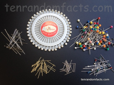 Straight Pins, Trivia, Ten Random Facts, Sewing Pin, Assortment, Coloured, Plain, Facts, Invention