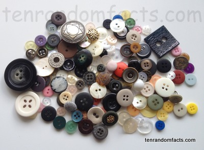 Button, Trivia, Ten Random Facts, Invention, Assorted, Collection, Fashion
