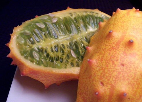 Horned Melon, Fruit, Trivia, Ten Random Facts, Orange, Skin, Spike, Cut, Green Jelly, Exotic