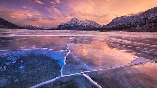 Abraham Lake, Trivia, Ten Random Facts, Sunset, Canada, Alberta, Frozen, Bubbles