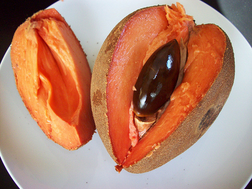Mamey Sapote, Ten Random Facts, Trivia, Orange, Fruit, Culinary, Cut