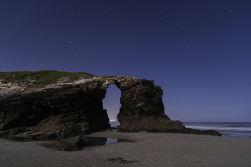 Playa de las Catedrales, Trivia, Ten Random Facts, Night, Beach, Water, Cathedrals, Night, Arch