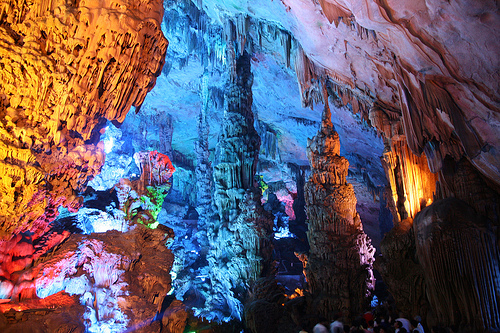 Reed Flute Cave, Trivia, Random, Facts, China, Lights, Rocks, Artificial, Beautiful, Colourful